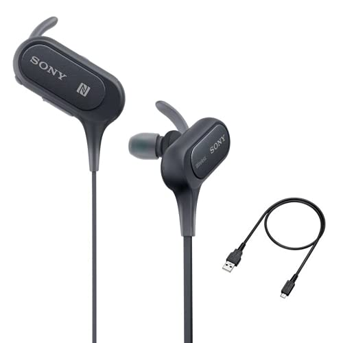 Sony Extra Bass Bluetooth Headphones, Best Wireless Sports Earbuds with Microphone