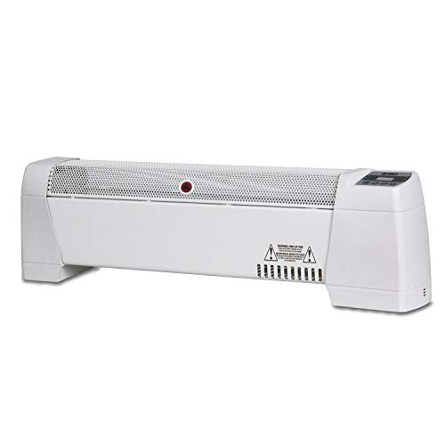 Optimus H-3603 30-Inch Baseboard Convection Heater with Digital Display and Thermostat Digital Heater Space