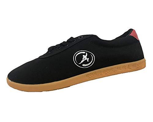 Zapatos De Tai Chi Zapatillas Kung Fu Correa Superior Artes Marciales Confort Transpirable Unisex De Artes Negro 1 44