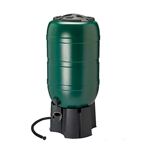 Dawsons Living 210 Litre Garden Water Butt Set - Including Tap with Filling Stand and Filler Kit - Tight Fitting Lid - 210L