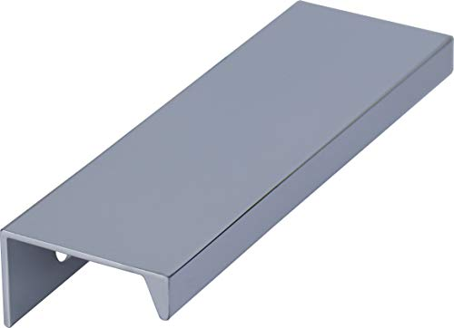 youngschwinnDESIGN - 5 Möbelgriffe aus Aluminium glanz chrom   BLA: 64mm   Schrankgriff, Schubladengriff, Griffleiste   Incl. Schrauben