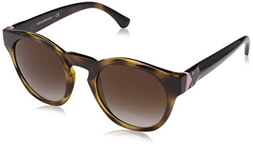 Emporio Armani Damen Sonnenbrille 0EA4113 Braun (Dark Havana) 51