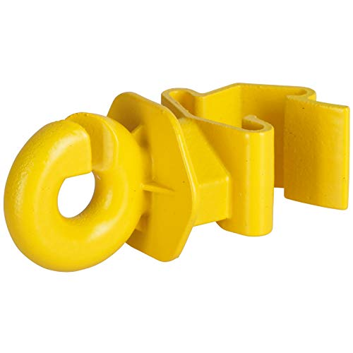 Agrarzone 25x T-Post Ringisolator für T-Pfosten gelb | Isolatoren für Weidezaun Elektrozaun | robuster Ring-Isolator mit praktischem Clip-System | für Litze Seil Draht Band Weidezaunpfahl T-Pfähle