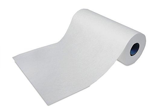 ROGGE Microfaser Rolle, 170x Microfasertücher mit Perforation Einweg. Einzel Tuchmaß: 35x22cm, weiß