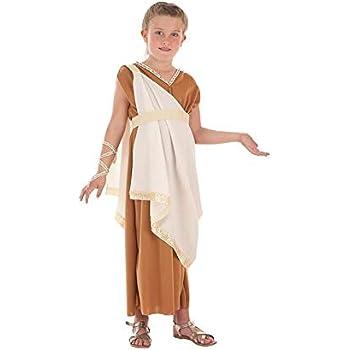 Creaciones Llopis Disfraz de Romana Aurelia para niña: Amazon.es ...