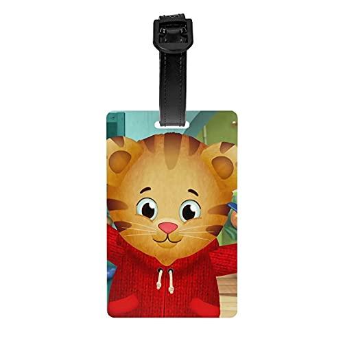 Daniel Tiger's Neighborhood Lage Tag, PVC-Material Kofferetikett, geeignet für Handtasche Lage Lage, leicht zu Finden und zu identifizieren, stilvolle Persönlichkeit, langlebig,