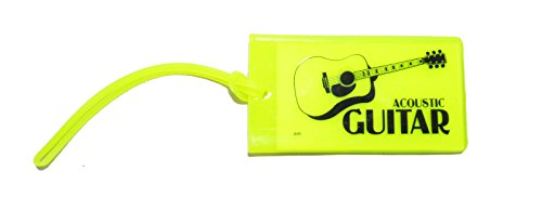 旅行カバン用ネームタグ ギター Music ID Bag Tag GUITAR (イエロー)