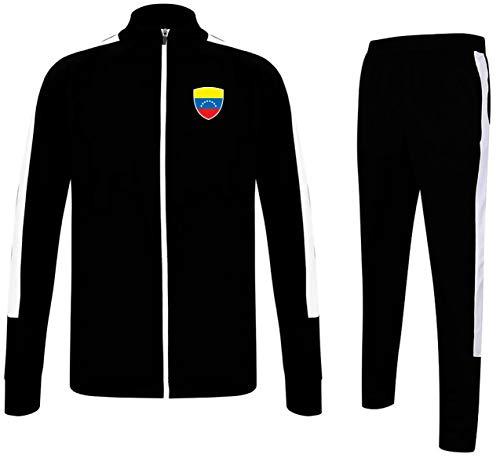 Nation Venezuela TA-GO - Chándal para hombre, Todo el año, Contraste/multicolor., Cuello alto, Hombre, color Negro , tamaño XL