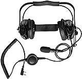 Casque d'aviation pour Motorola CP020 CP040 Radio, Radio Rocket Aviation Pilot Headset Fit Motorola 2pin Walkie Talkie Casque antibruit 24dB Réduction du Bruit Protection auditive