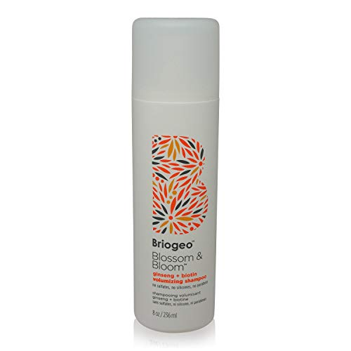 Briogeo - Blossom & Bloom Ginseng + Biotin Volumizing Shampoo, Fortified with Follicle Stimulating Ginger, Ginseng, and Biotin for Full and Healthy Hair, 8 oz