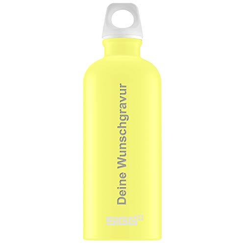 SIGG Trinkflasche e 0,6 Liter in Ultra Lemon | Leichte Wasserflasche aus Aluminium I BPA frei - Plastikfrei I Auslaufsicher und Kohlensäure geeignet I Sportflasche