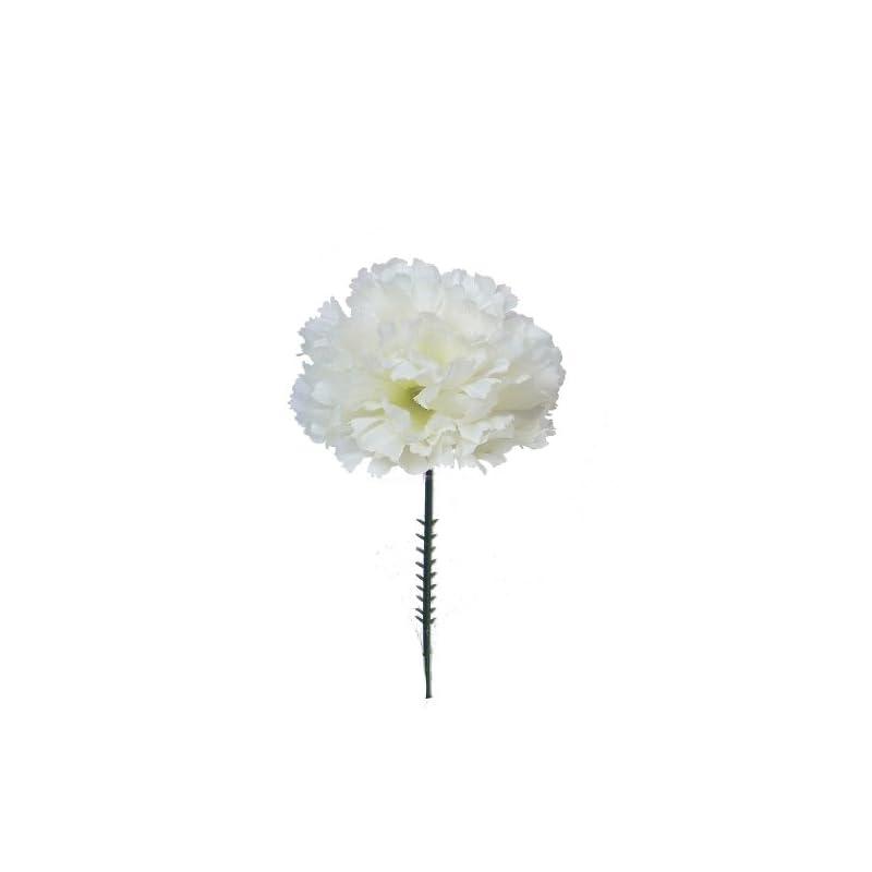 "silk flower arrangements larksilk cream white silk carnation picks, artificial flowers for weddings, decorations, diy decor, 1000 count bulk, 3.5"" carnation heads with 5"" stems"