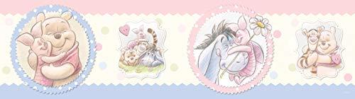 AG Design Disney Winnie Puuh Wand Sticker, Selbstklebende Folie, Mehrfarbig, 500 x 14 cm