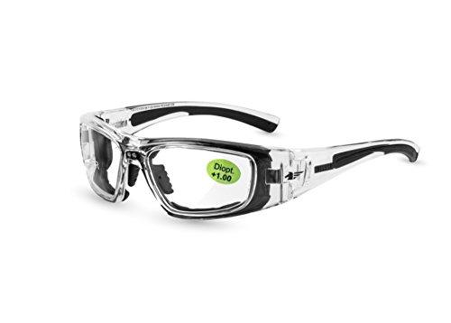 Pegaso 119.010 Gafas de Seguridad, Negro y Gris, L
