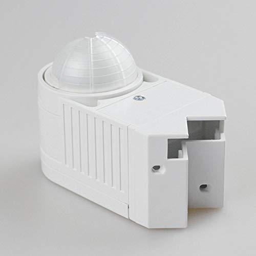 Bewegungsmelder für Innen und Außen – Aufputz 360 Grad Bewegungssensor – LED Licht Schalter – geeignet für die Montage an Decke, Wand oder Dach – IP44