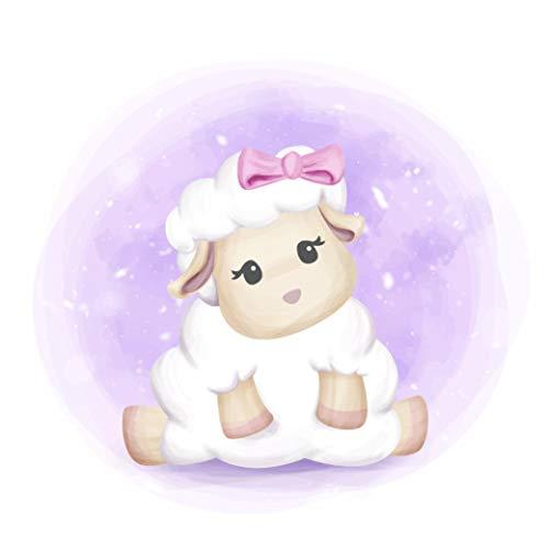 EmmiJules Wandtattoo Schaf für das Kinderzimmer - Größe (BxH): 20 x 20 cm - Made in Germany - Baby Mädchen Kinder Schafe Lamm Lämmchen Tiere Babyzimmer Wandaufkleber Wandsticker
