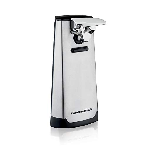 Hamilton Beach Automatic Can Opener, Electric, with Easy-Clean Detachable Cutting Lever, Knife Sharpener, Cord Storage, Brushed Stainless Steel (76700)