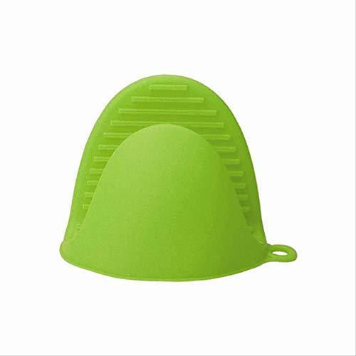 FHFF Ttlife - Guantes de cocina de silicona con aislamiento térmico para horno, color verde