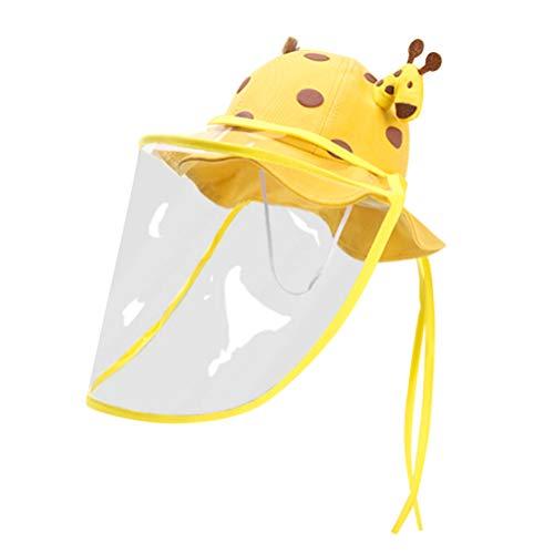 KESYOO Balde de Crianças Boné Protetora de Algodão Proteção Solar Balde Chapéus Protetor Facial Destacável Chapéu de Pescador para Crianças 50Cm