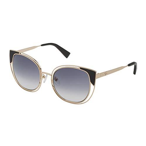 FURLA Gafas de sol para mujer, oro rosado, brillante, lentes ahumadas degradadas, SFU246 0300 54-22-140