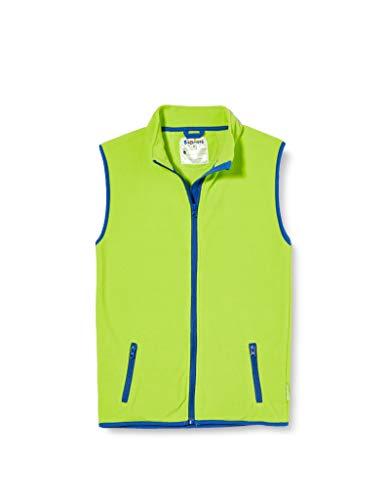 Playshoes Kinder Fleeceweste farbig abgesetzt Weste, (grün 29), 140