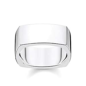 THOMAS SABO Unisex Ring Viereckig Silber 925 Sterlingsilber TR2280-001-21