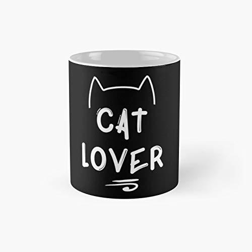 Taza clásica blanca para amantes de los gatos | El mejor regalo divertidas tazas de café de 325 ml