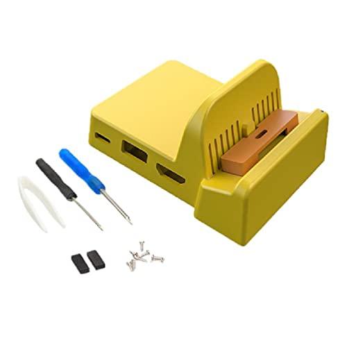 Base de enfriamiento de 3 colores DIY Base de carga Soporte de refrigeración incorporado Ventiladores 2 USB Hub caso reemplazo para NS Switch Lite Consola base de refrigeración