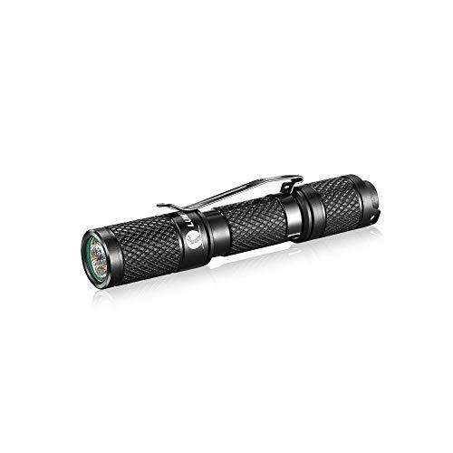 Linterna LED pequeña con llavero Lumintop Tool AAA, lámpara ligera, 110 lm, OSRAM LED, 3 modos, IP68, resistente al agua, aluminio, para uso diario, camping, senderismo, emergencias (negro)