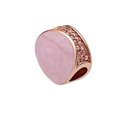 Pandora 925 Día de San Valentín Estilo Plata de Ley Charm Bead Rueda Rosa Pulsera Original Joyería de Plata Diy