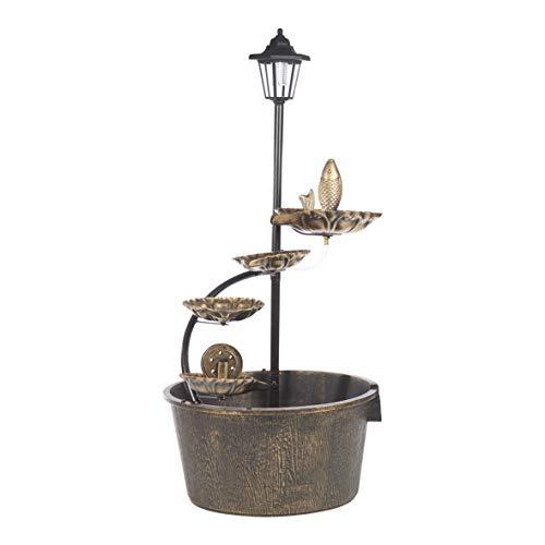 GardenKraft Cascading Barrel Fountain
