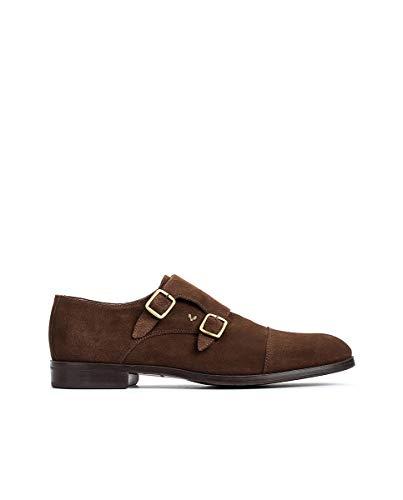 zapatos doble hebilla hombre ante