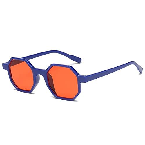 Libarty Gafas de Sol de Moda con Forma de polígono para Mujer, Gafas con Montura de PC, Gafas de Sol para Mujer, Gafas de Sol Protectoras UV400 para Viajes