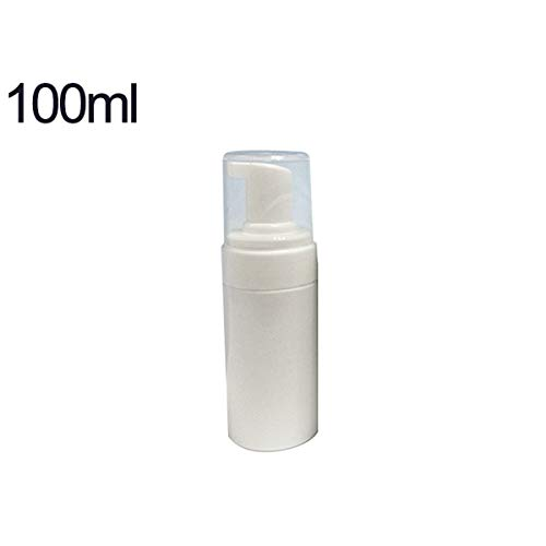Gugutogo 100ml Botella de Mousse Limpiador portátil Ligero Botella de Bomba de plástico Recargable vacía Frasco de Viaje Frasco de Espuma jabón líquido Mousse