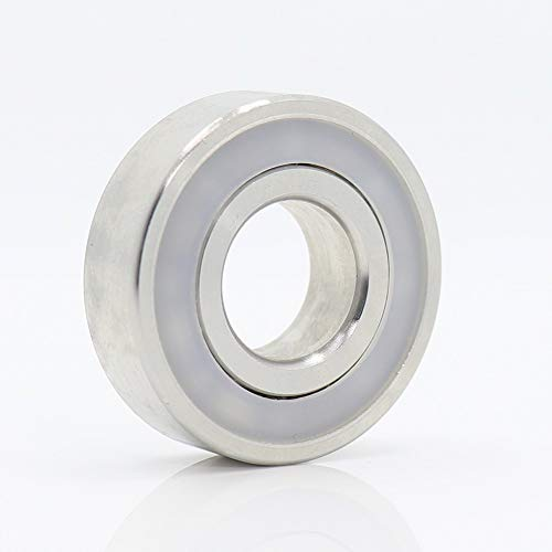 Rodamientos de precisión 1pc inoxidable 316L acero for rodamientos 604 605 606 607 608 609 rodamientos rígidos de bolas S604 S605 S606 S607 S608 S609 RS ( Color : Silver , Size : S605RS 316L )