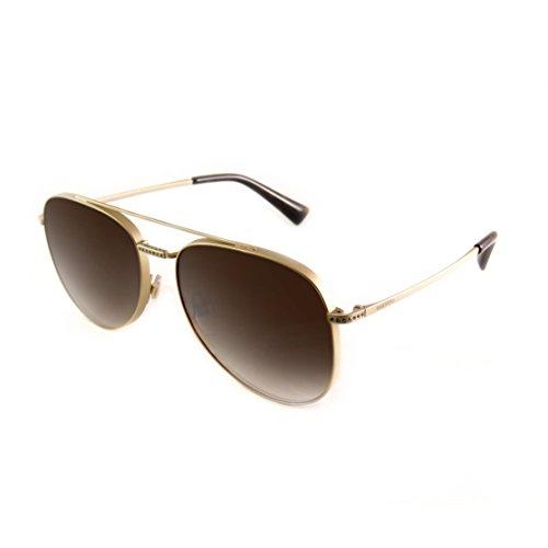 Valentino 0VA2007B 301613 56 Gafas de sol, Dorado (Light Gold Sandblast Matte/Gradientbrown), Mujer