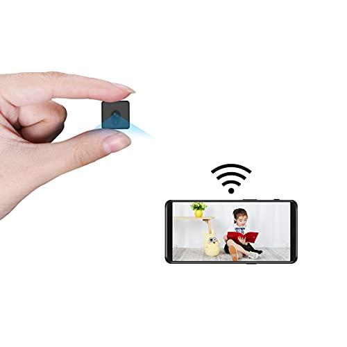 Smhawk 小型カメラWiFi、移動検知、暗視、録画、録音機能を備えた4k HD画質隠しカメラで、小型で設置も簡単な、ベビーシッターカメラやベビー監視カメラの屋内 屋外に適しています。