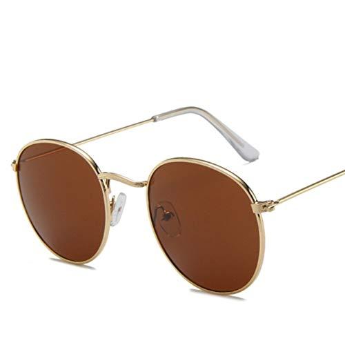 Negro Retro Atractivo Lindo Oval Gafas de Sol de Las Mujeres de Oro a pequeña Retro de los vidrios de Sun Gafas Rojas Femenino for Las Mujeres Gafas de Controladores Gafas de Sol polarizadas