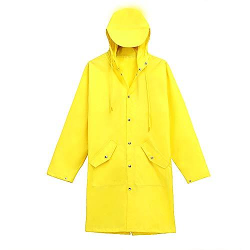 Geruafu regenjas polyestervezel enkele dikke mantel voor vrouwen bij waterdichte paardrijden wandelen, etc. (geel, rood) één maat.