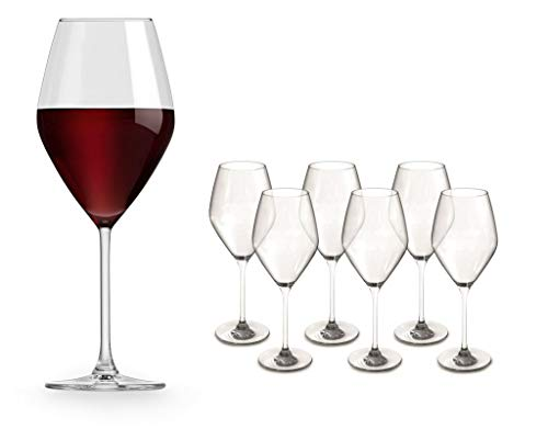 Juego de 6 copas de vino tinto, 47 cl