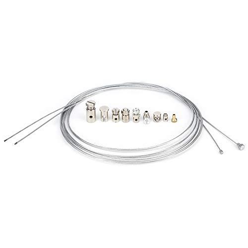 Qiilu Kit de reparación de cable de freno de acelerador de embrague universal con boquillas Piezas universales