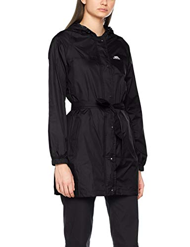 Trespass Compac Mac, Black, M, Wasserdichte Kompakt Zusammenfaltbare Jacke für Damen, Medium, Schwarz