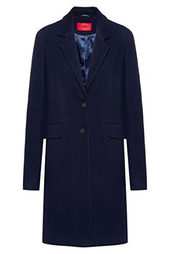 HUGO Damen Mellia-1 Wollmischungs-Mantel, Open Blue464, 32