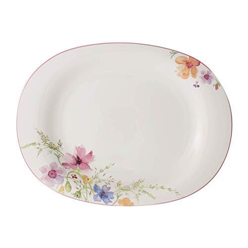 Villeroy & Boch Mariefleur Basic Plat, 42 cm, Porcelaine Premium, Blanc/Multicolore