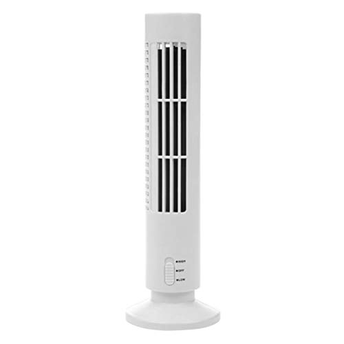 KiMiLIKE Tragbarer Luftkühler Vertikal Bladeless Ventilator USB-Desktop-Klimaanlagen-Ventilator Mini-Kühlturm Fan Upgraded Kleine USB-Schreibtisch-Ventilator für Home Office