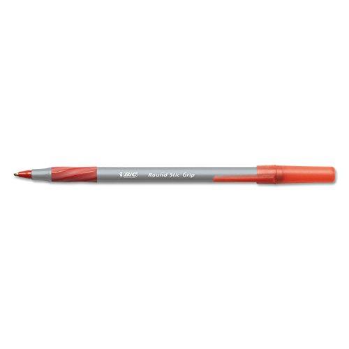 Round Stic Grip Xtra Comfort Ballpoint Pen, Red Ink, 1.2mm, Medium, Dozen