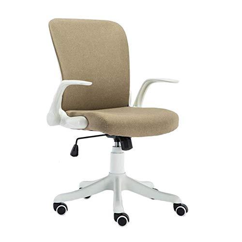 JIEER-C Leisure stoel Office stoel Swivel Desk stoel verstelbare stoel hoogte computer stoel study kamer medium back duurzaam sterk Khaki (stad)