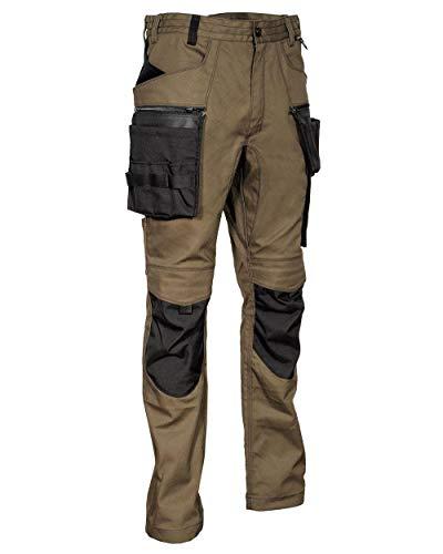 Cofra V561-0-03.Z46 MURECK Multitaschen-Hose, 64% Baumwolle, 34% Polyester, 2% Elasthan, 300G Schlamm/Schwarz, Größe 46