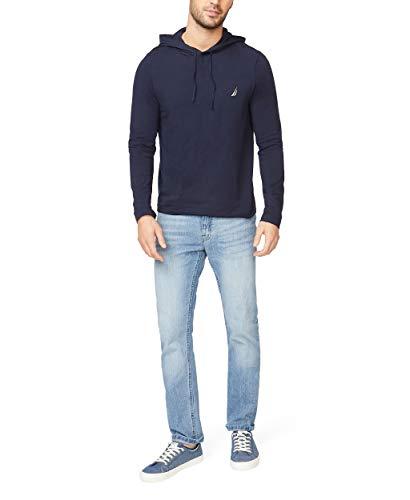 Nautica Men's Long Sleeve Pullover Hoodie Sweatshirt, Navy, Large