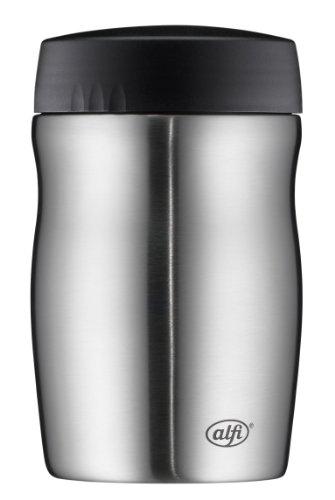 alfi Thermobehälter für Essen groß Lunchpot foodMug, Edelstahl mattiert 500ml, Speisegefäß für Essen, Suppen oder Müsli unterwegs, dicht, 0637.205.050, BPA-Frei, 6 Stunden heiß, 12 Stunden kalt